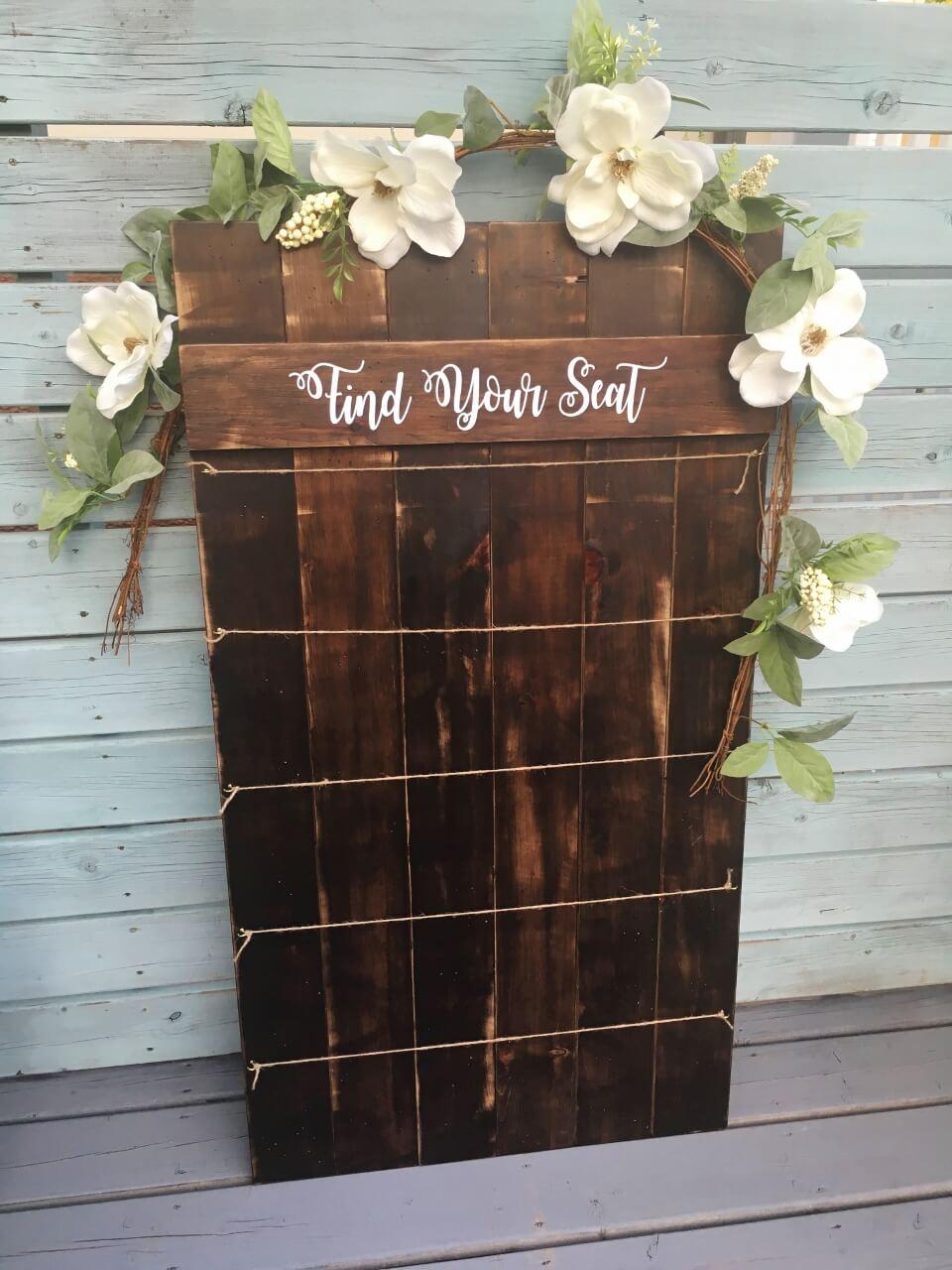 Wood Pallet Seating Chart Joani Wedding Decor